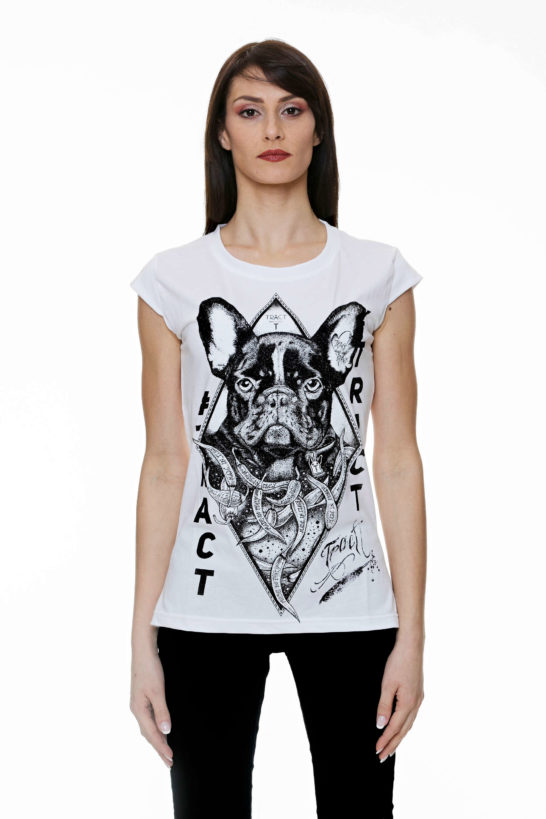 Urban Style T-shirt streetwear Made in Italy - BULLDOG TR117W