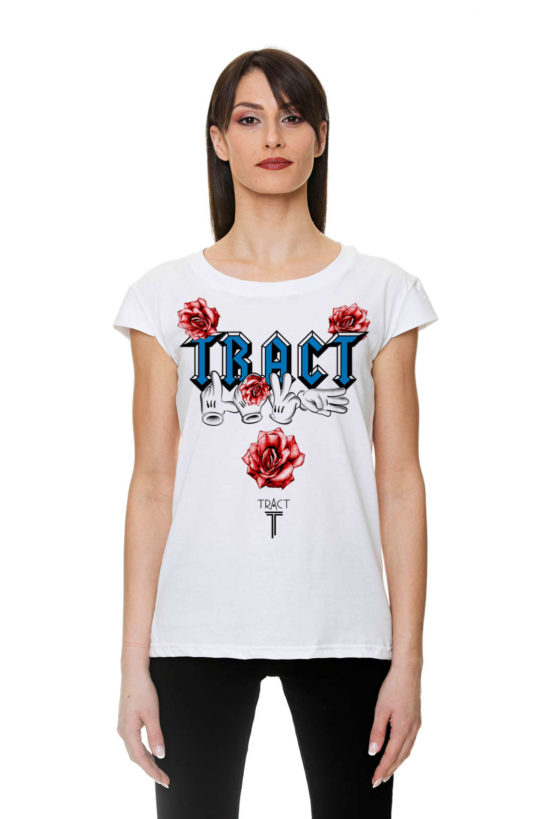 Urban Style T-shirt streetwear Made in Italy - LOVE TRACT TR136W