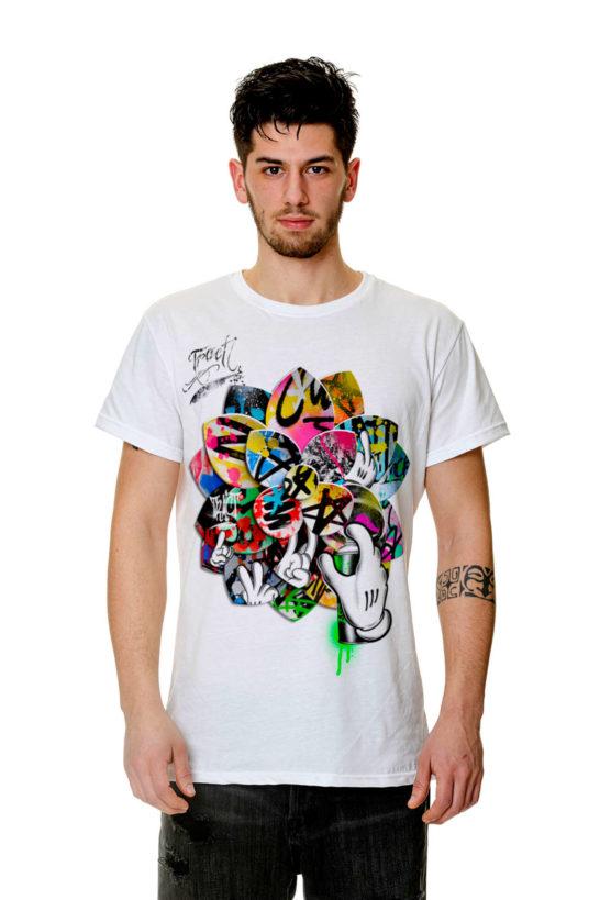 T-Shirt - TR156M - GRAFFITI LOTUS