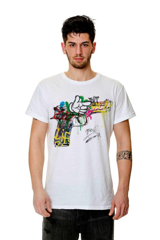 T-Shirt - TR158M - GRAFFITI PISTOL