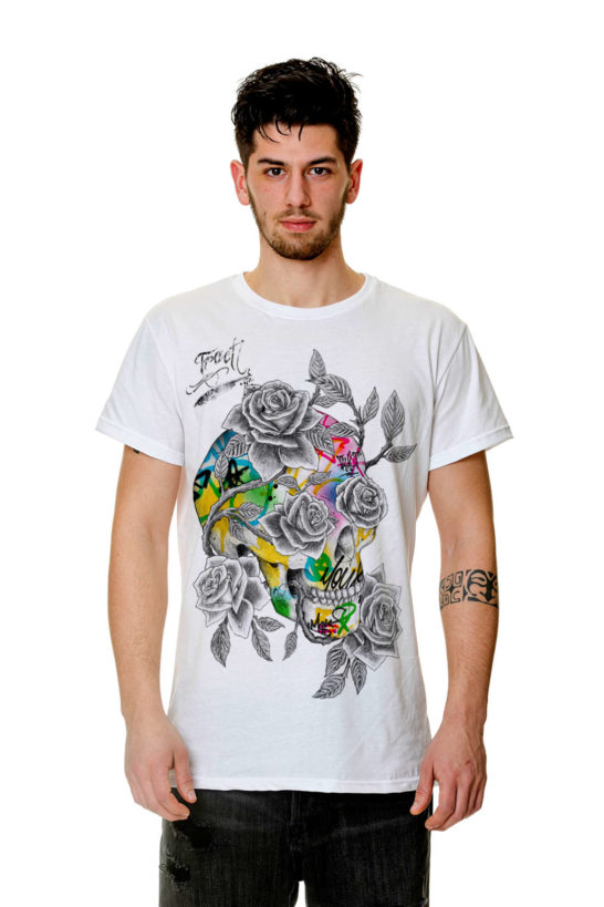 T-Shirt - TR63AM - SKULL ROSE