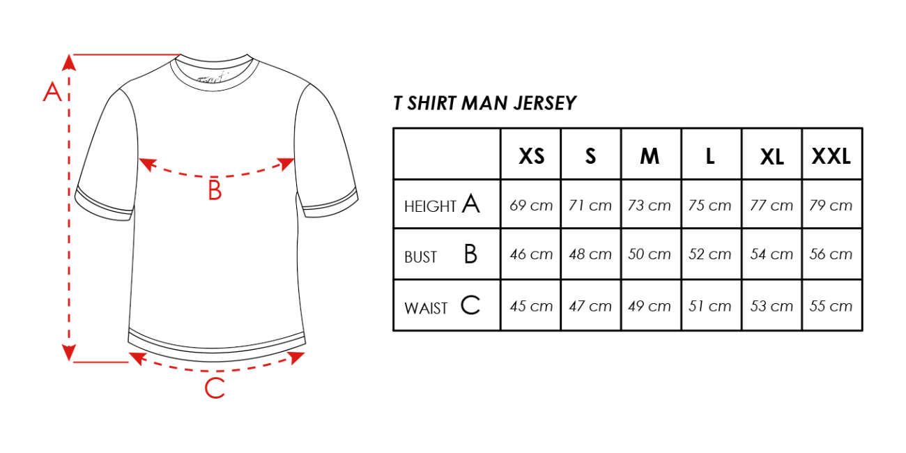 Size info T-Shirt man Cotton Jersey