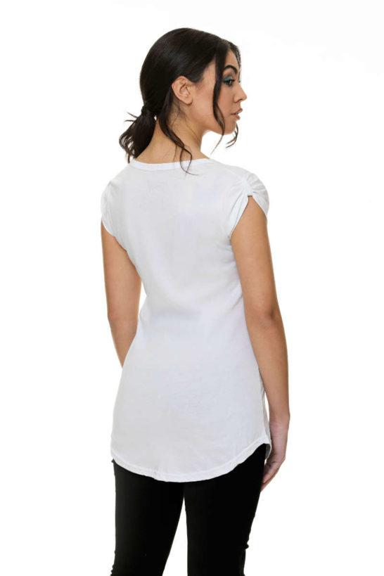 T-Shirt woman Cotton Jersey long rear