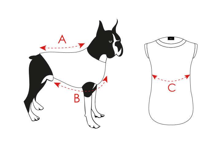 Dog t-shirt info