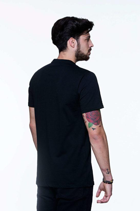 T-shirt uomo Retro nera