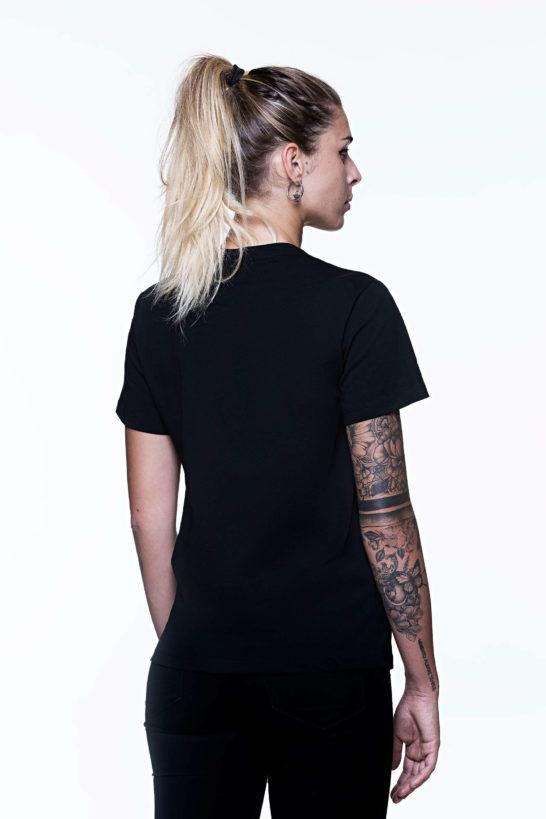 T-shirt donna Retro nera