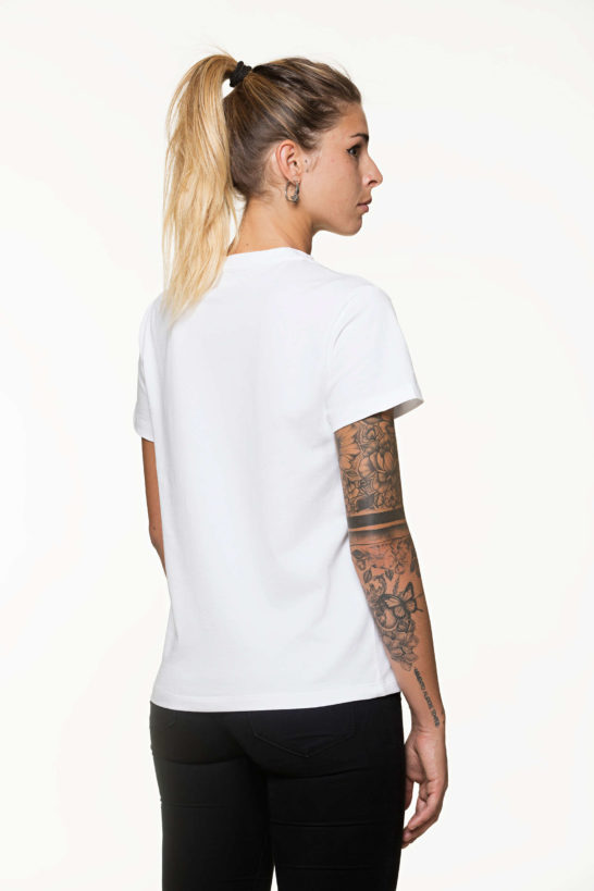 T-shirt donna Retro bianca