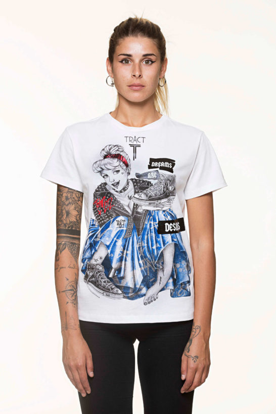 Urban Style T-shirt streetwear - CINDERELLA TRT40AW