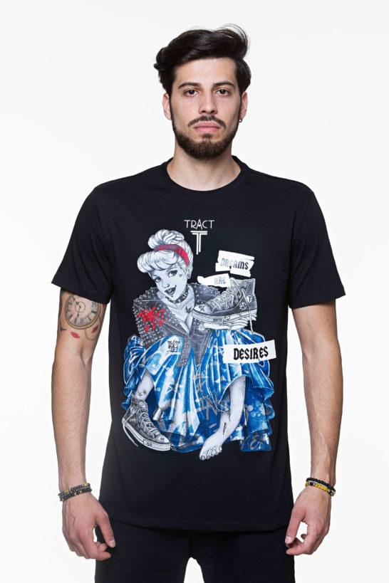 Urban Style T-shirt streetwear - CINDERELLA TRT40BM