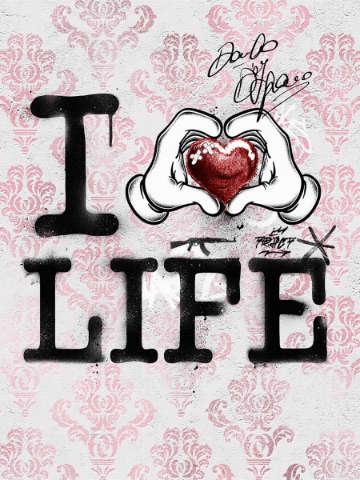 Street Art - I Love Life
