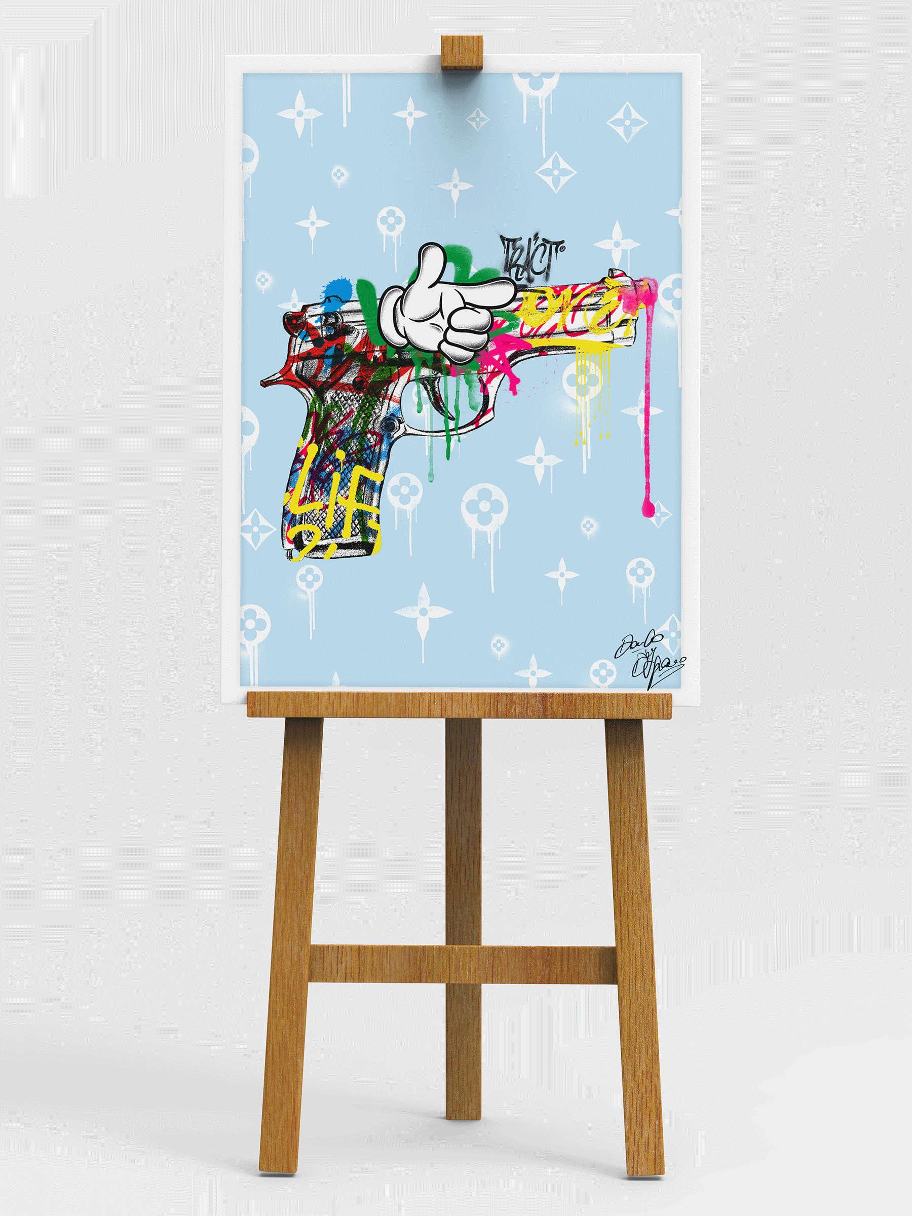 Street Art - Pistol