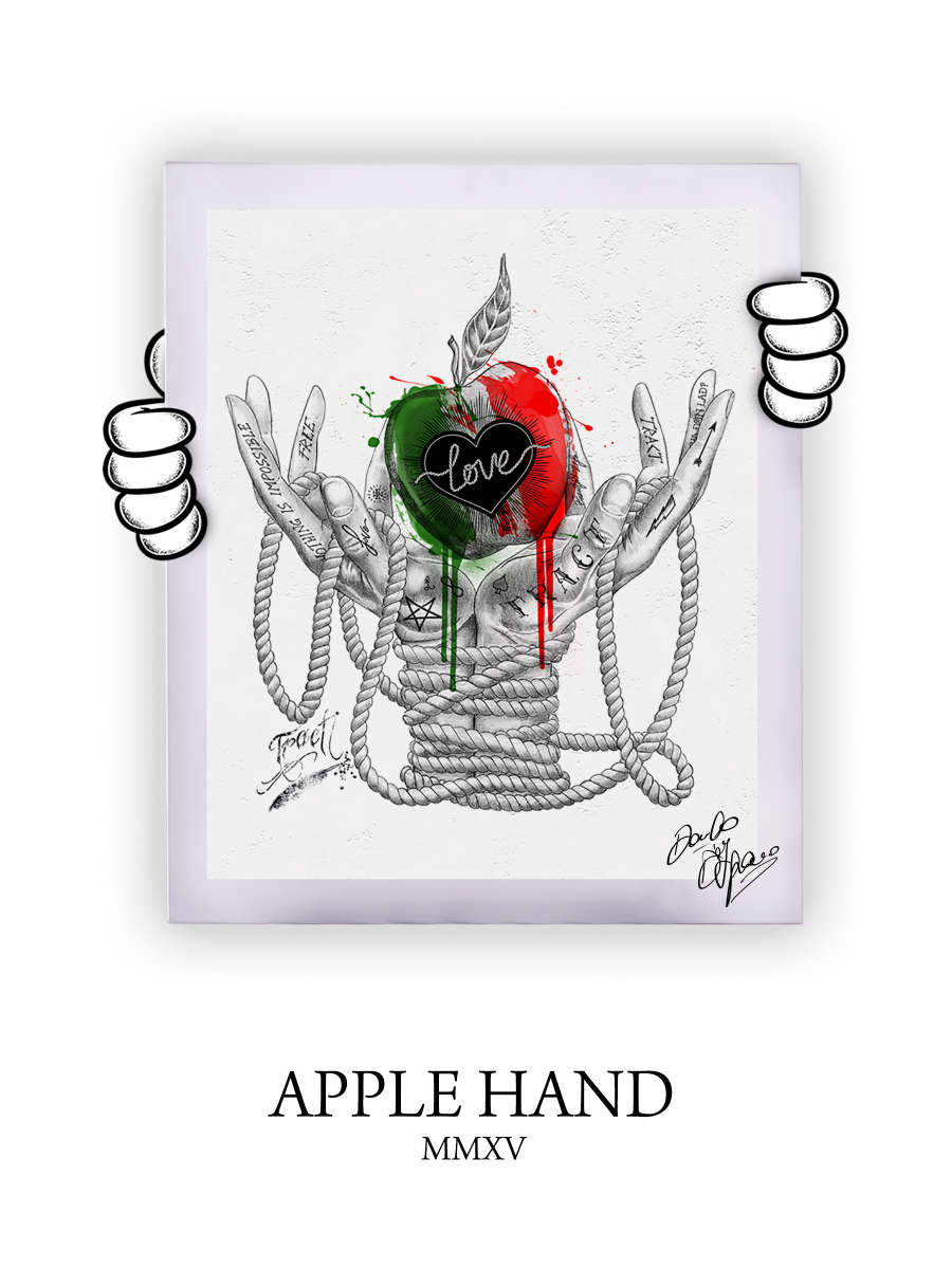Street Art Apple Hand 2015