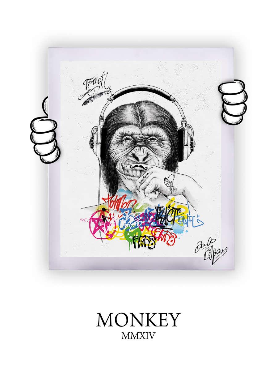 Street Art Monkey 2014