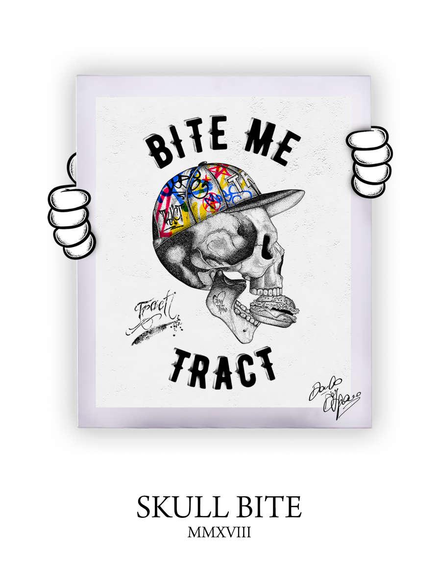 Street Art Skull Bite 2018