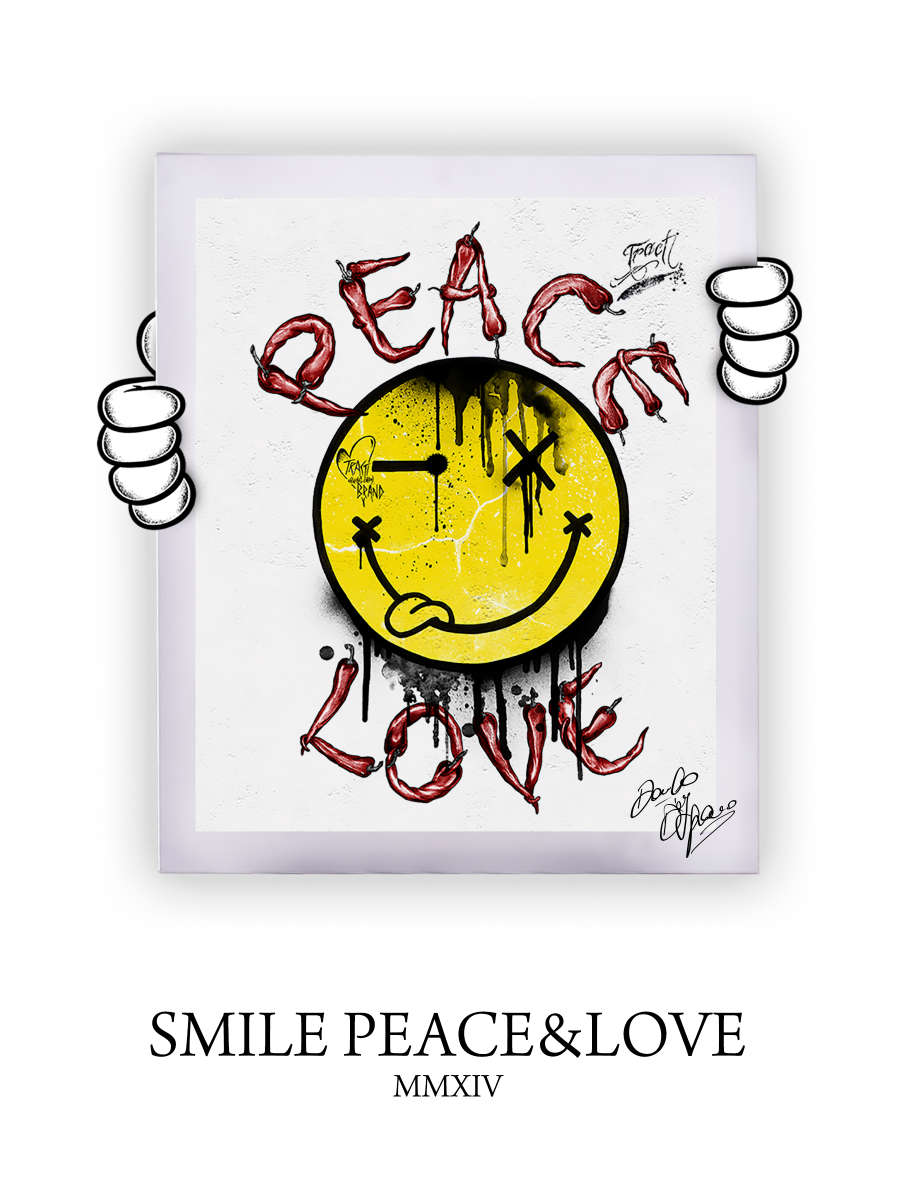Street Art Smile Peace&Love 2014