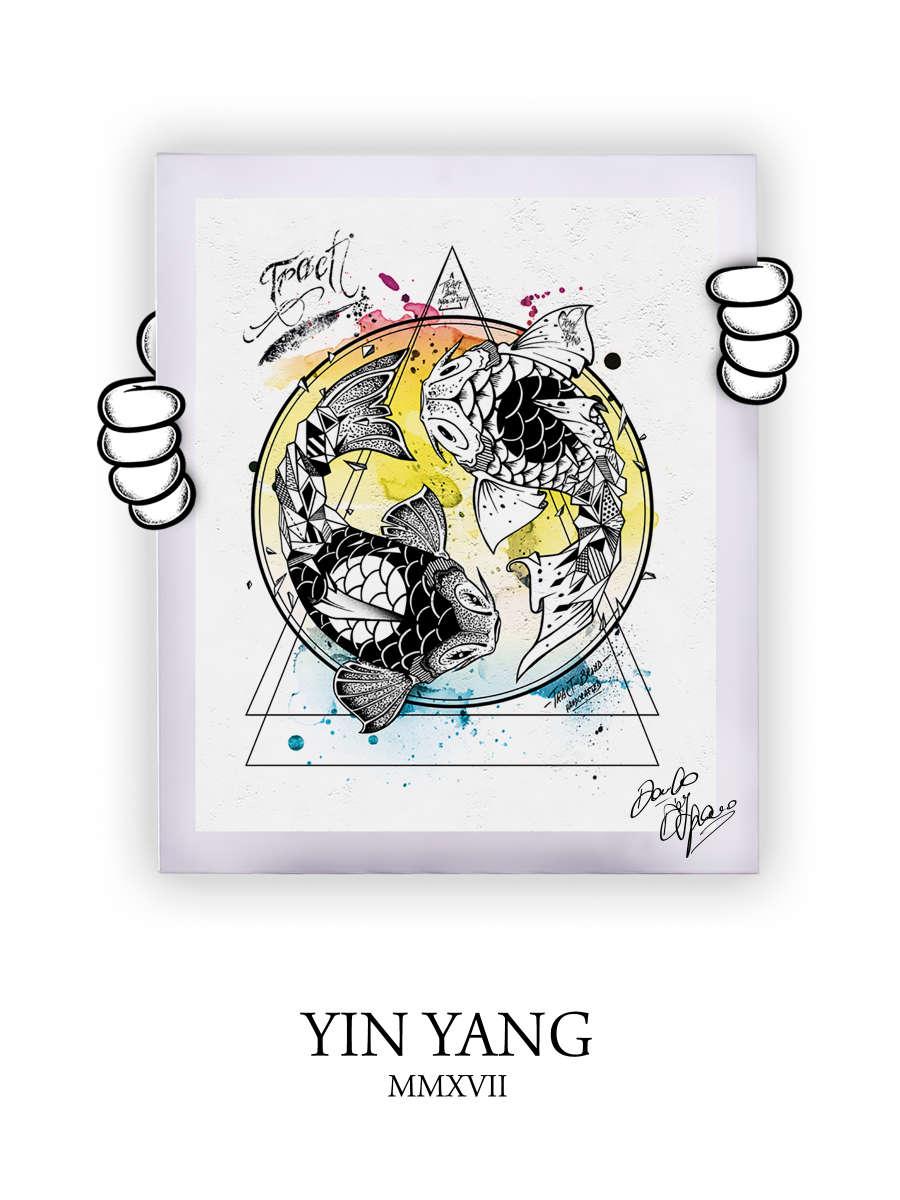 Street Art Yin Yang 2017