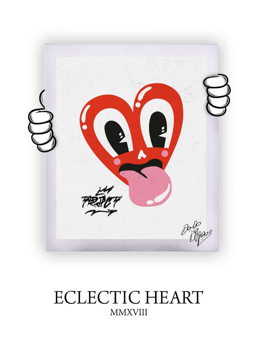 Street Art Eclectic Heart 2018